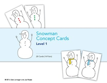 Snowman Concept Cards Level One