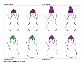Snowman Concept Cards Level Two