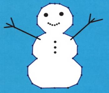 Snowman Coordinate Graph - Quadrant I