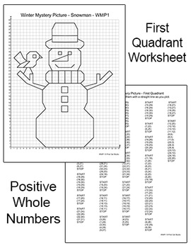 winter math graphing coordinates snowman mystery picture by pink cat studio. Black Bedroom Furniture Sets. Home Design Ideas