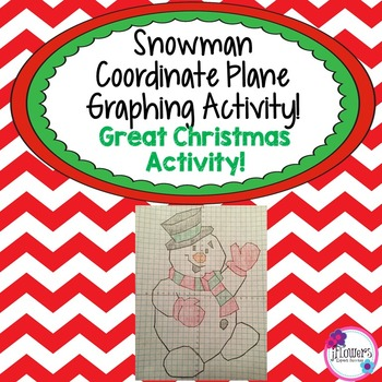 Snowman Coordinate Plane Graphing Activity! Great Christmas Activity!