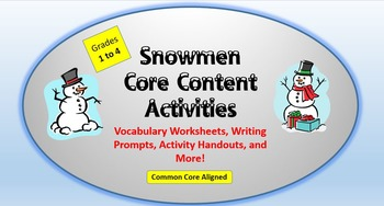 Snowmen Lesson Plan Packet