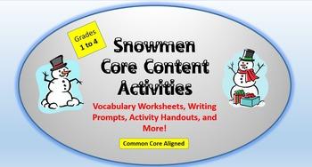 Snowmen Lesson Plan Packet