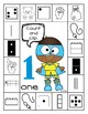 Superhero Count and Clip/Color/Dab - Number Sense 1-10