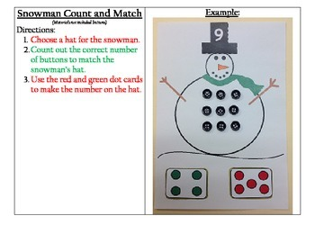 Snowman Count and Match