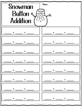 Count & Match Snowman Buttons Numbers 1-30 Counting and Cardinality
