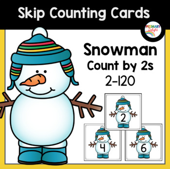 Snowman Count by 2 Cards