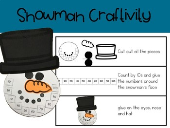 Snowman Count (counting by 10s)
