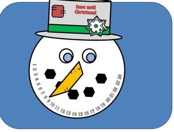Snowman Countdown Craftivity