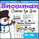Snowman Counting Book for Preschool and PreK Maths