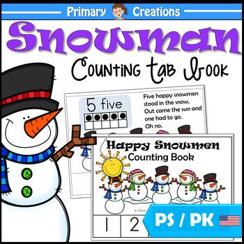 Snowman Counting Book for Preschool and PreK Maths