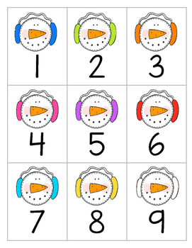Snowman Counting Cards {includes numbers 1-1,000}