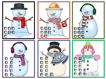 Snowman Counting ~ Math Activities
