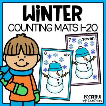 Snowman Counting Mats 0-20