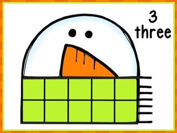 Snowman Counting Mats