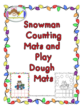 Snowman Counting Mats and Play Dough Mats