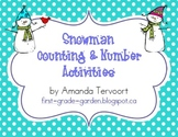 Snowman Counting & Number Activities {0-120}