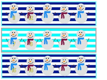 Snowman Counting On 1-20