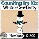 Snowman Counting by 10's Craftivity