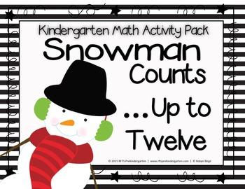 Snowman Counts (Up to Twelve) A cut-n-paste Activity