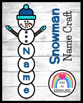 Winter Craft: Name Snowman