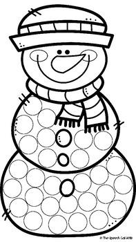 Snowman Craft Activity - Freebie