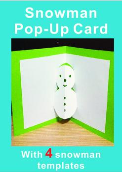 Snowman Craft Pop-up Cards