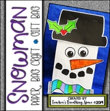 Snowman Craft —-Snowman Paper Bag Craft or Gift Bag