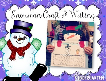 Snowman Craft & Writing Freebie