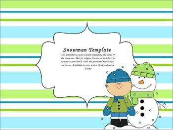 Snowman Craft and Poem