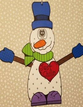 Snowman Craft and Writing Activity; Winter Craft and Writing Activity