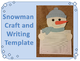 Snowman Craft and Writing Template