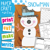Winter Craftivity: Snowman Paper Craft