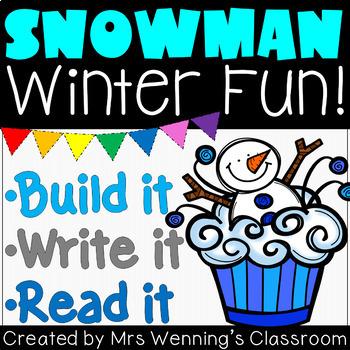 Snowman Craftivity & Book Pack!
