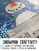 Snowman Craftivity [Editable]