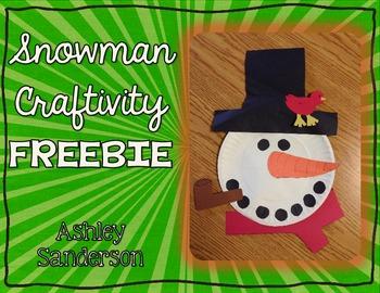 Snowman Craftivity FREEBIE