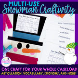 Snowman Craftivity For Speech & Language