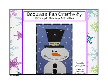 Snowman Craftivity: Math and Literacy Activities (1st and