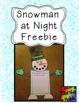 Snowman Craftivity (S.Malek Freebie)