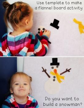 Snowman Craftivity Template