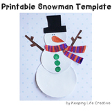 Snowman Craftivity Template