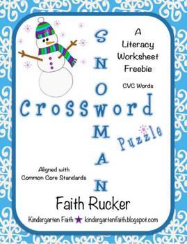 Snowman Crossword Puzzle
