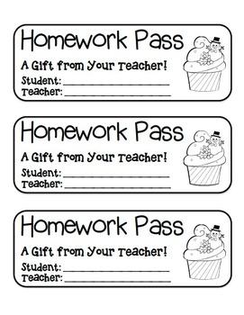"""Snowman Cupcake"" Homework Pass –Holiday FUN! (black line version)"
