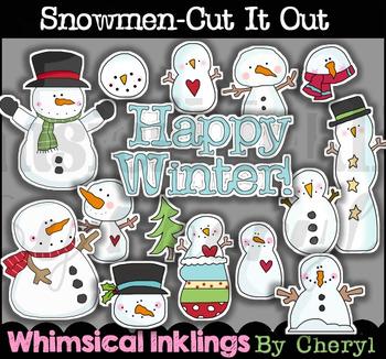 Snowman Cut It Out Cliaprt Collection