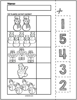 Snowman Worksheet Kindergarten