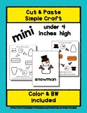 Snowman - Cut & Paste Craft - Mini Craftivity for Pre-K &
