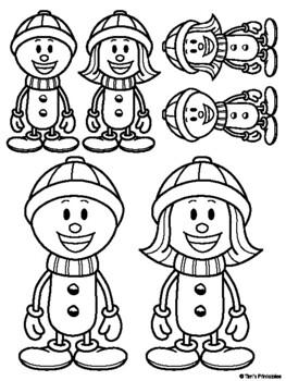 Snowman Cut and Paste Activity PDF