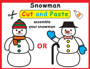 Cut and Paste Craft Snowman