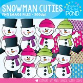 Snowman Cuties - Winter Clipart Set for Teachers