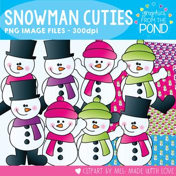 Snowman Cuties - Winter Clipart Set for Teachers